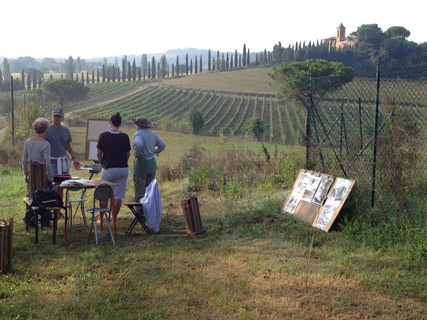 Click here to learn more about these plein air painting workshops in Italy!
