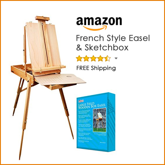 best portable French style easel for painting plein air