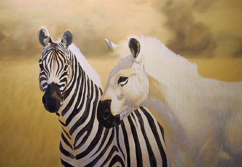 Zebra Without Stripes Oil Painting Demonstra...